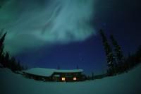 心に残る星景03『冬空のベール』 —フェアバンクス近郊〔アメリカ・アラスカ州〕