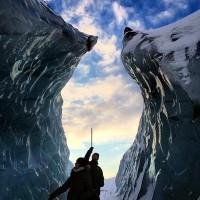 """01.アイスランド:""""ソウルヘイマヨークトル氷河""""で氷の壁を登る"""