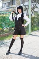 『acosta! コスプレイベント』コスプレイヤー・桜花さん<br>(『妖狐×僕SS』白鬼院凜々蝶)