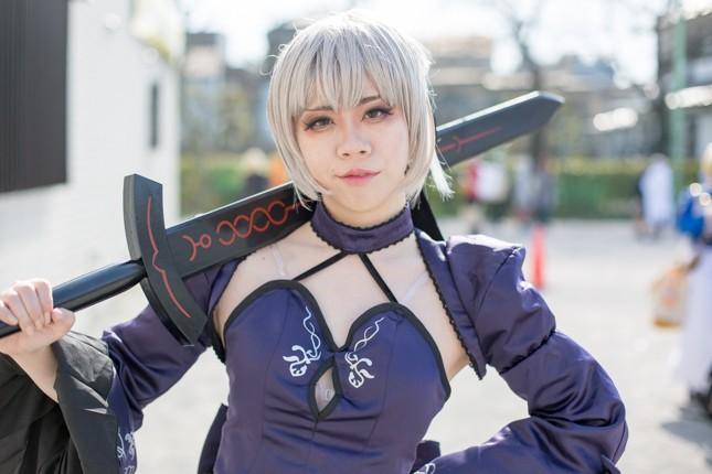 『acosta! コスプレイベント』コスプレイヤー・によしるおさん<br>(『Fate/stay night』セイバー・オルタ)