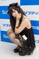 『サンクプロジェクト×ソフマップ』コスプレイヤー・ゆえるさん<br>(『オリジナル』黒猫)