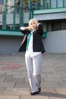 『acosta!コスプレイベント@大阪南港ATC』コスプレイヤー・かさねさん<br>(『BROTHERHOOD | FINAL FANTASY XV』プロンプト・アージェンタム)