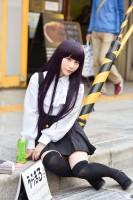 『日本橋ストリートフェスタ2018』コスプレイヤー・うらまるさん<br>(『妖狐×僕SS』白鬼院凜々蝶)