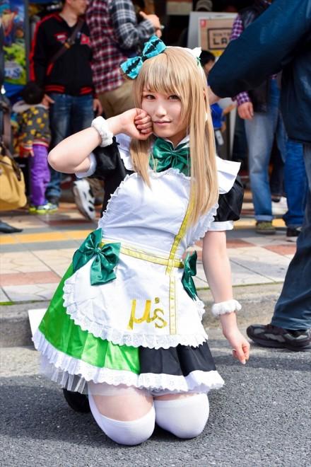 『日本橋ストリートフェスタ2018』コスプレイヤー・くるるさん<br>(『ラブライブ!』南 ことり)