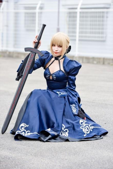 『日本橋ストリートフェスタ2018』コスプレイヤー・シェリルさん<br>(『Fate/Grand Order』セイバーオルタ)