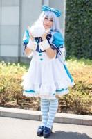 『AnimeJapan 2018』コスプレイヤー・萌音さん<br>(『ご注文はうさぎですか?』チノ)