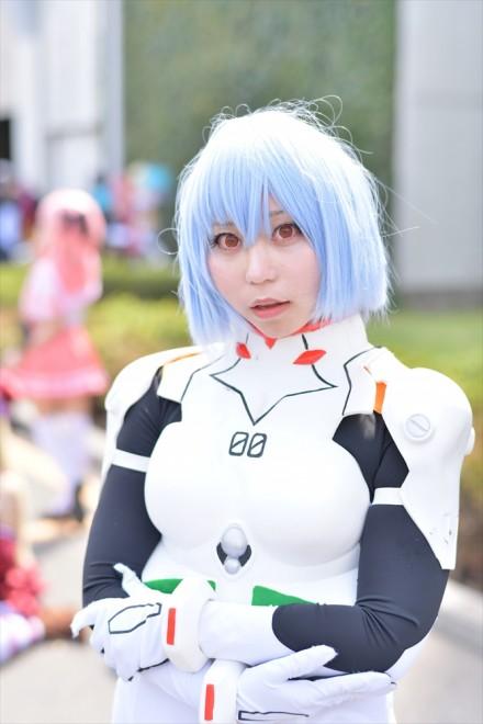 『AnimeJapan 2018』コスプレイヤー・真白ゆうさん<br>(『新世紀エヴァンゲリオン』綾波レイ)