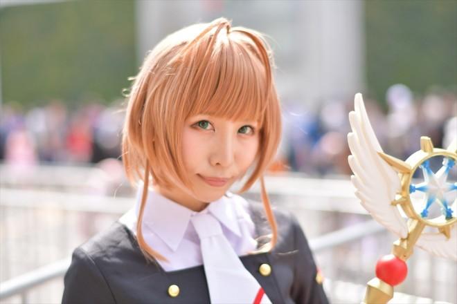 『AnimeJapan 2018』コスプレイヤー・しらほしなつみさん<br>(『カードキャプターさくら』木之本 桜)