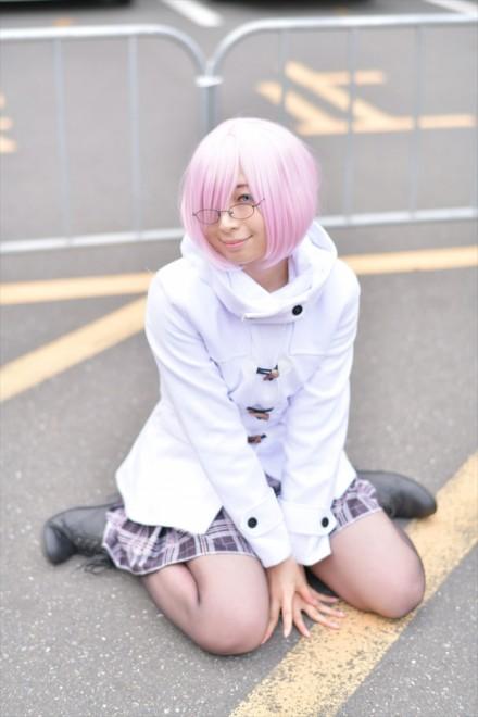 『AnimeJapan 2018』コスプレイヤー・天音依茉さん<br>(『Fate/Grand Order』マシュ・キリエライト)
