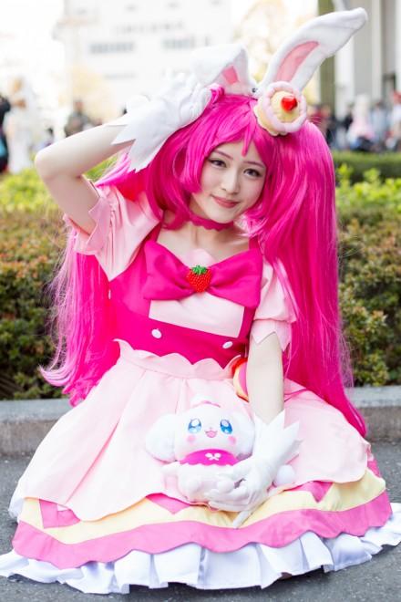 『AnimeJapan 2018』コスプレイヤー・クレヲンさん<br>(『キラキラ プリキュアアラモード』キュアホイップ)