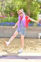 『acosta! コスプレイベント』(4月22日 池袋サンシャインシティ)コスプレイヤー・ぐろりあさん<br>(『Dr.スランプ アラレちゃん』則巻アラレ)
