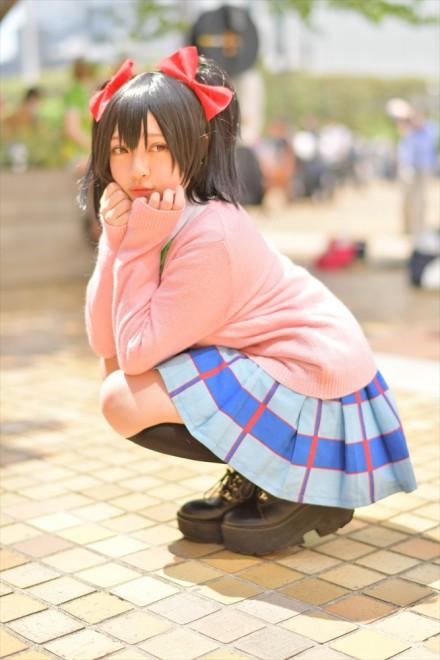 『acosta! コスプレイベント』(4月22日 池袋サンシャインシティ)コスプレイヤー・りんごあめさん<br>(『ラブライブ!』矢澤にこ)