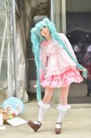 『ニコニコ超会議2018』コスプレイヤー・春汰もなさん<br>(『VOCALOID』初音ミク(LOL-lots of laugh-))