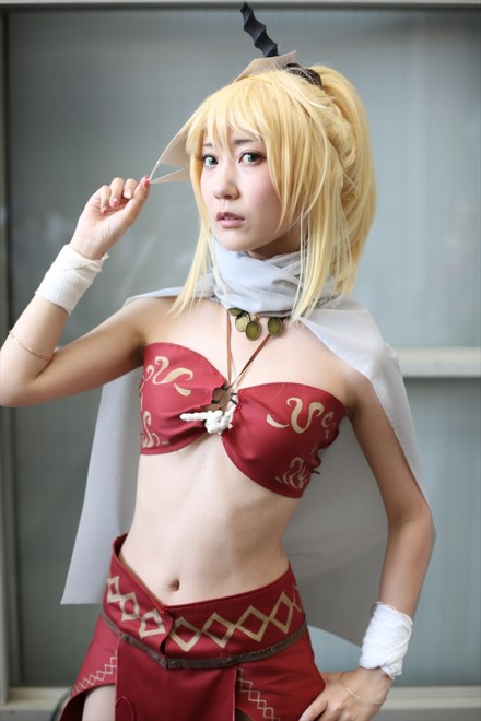 『ニコニコ超会議2018』コスプレイヤー・天城澪さん<br>(『Fate/Grand Order』モードレッド)