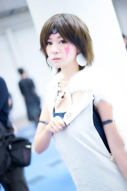 百合亜さんコスプレ写真:もののけ姫 サン