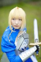 『コスプレガタケットin石油の里』コスプレイヤー・ギン太さん<br>(『Fate/Grand Order』セイバー)