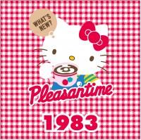 1983年 ギンガムチェックシリーズ 流行に合わせて、キティのデザインにもギンガムチェックが登場