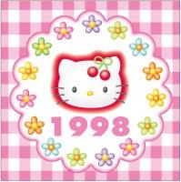 1998年 チェリーシリーズ 幅広い年代のファンによりますますキティ人気が盛り上がる。このチェリーシリーズは家電などにも用いられ、生活用品をキティでそろえるファンも出現