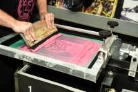 「Amoeba Music」でのイベントで販売した限定セット。4つの柄から選んで、その場でTシャツやトートバッグにプリントしてくれる