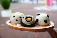 人気の「パンダ肉まん」ほか
