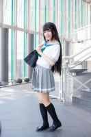 『acosta!(アコスタ)@大阪南港ATC SUPER!』コスプレイヤー・めろんぱんさん<br>(『ラブライブ!サンシャイン!!』黒澤ダイヤ)