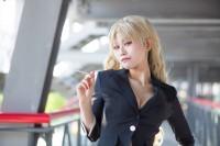 『acosta!(アコスタ)@大阪南港ATC SUPER!』コスプレイヤー・萌力さん<br>(『名探偵コナン』ベルモット)