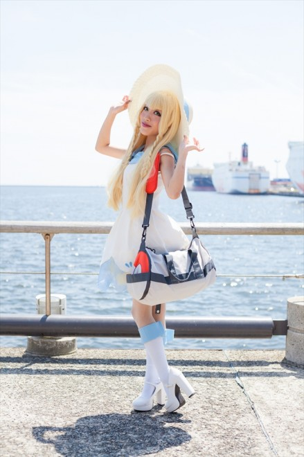 『acosta!(アコスタ)@大阪南港ATC SUPER!』コスプレイヤー・なな宮なつきさん<br>(『ポケットモンスター』リーリエ)