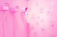 ラブレター入り?ピンクのポストのブース