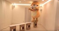 目隠しで橋渡りに挑戦するちぃたん☆(カワウソちぃたん☆ YouTubeより)
