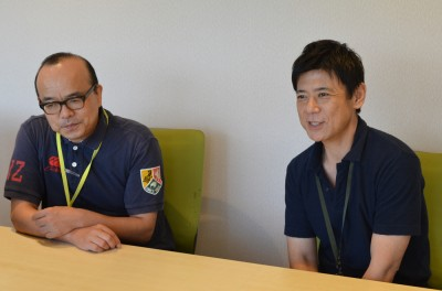 (左から)チーフディレクター・柴文彦氏、チーフプロデューサー・大野克郎氏