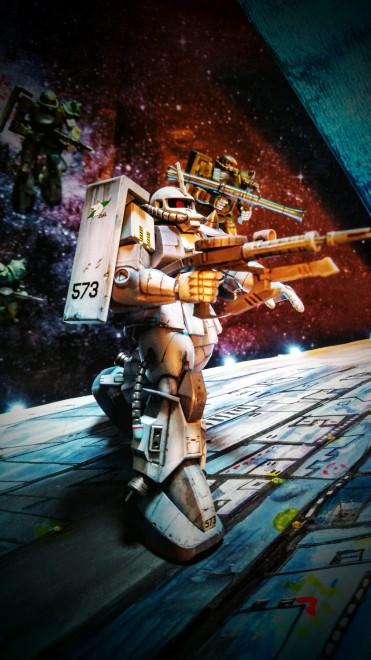 作品名:【箱絵再現】MS-06R ザクIIシンマ・ツナガ中尉機  製作:コーディ