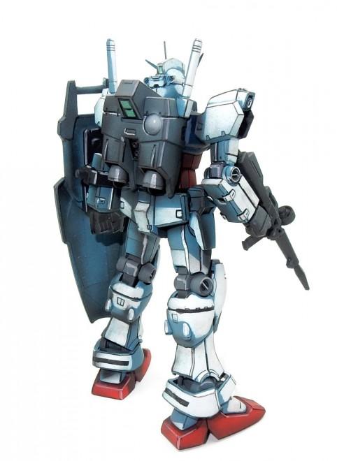 作品名:イラスト風模型・RX-78GP01 ガンダム試作1号機(ゼフィランサス) 製作・今日