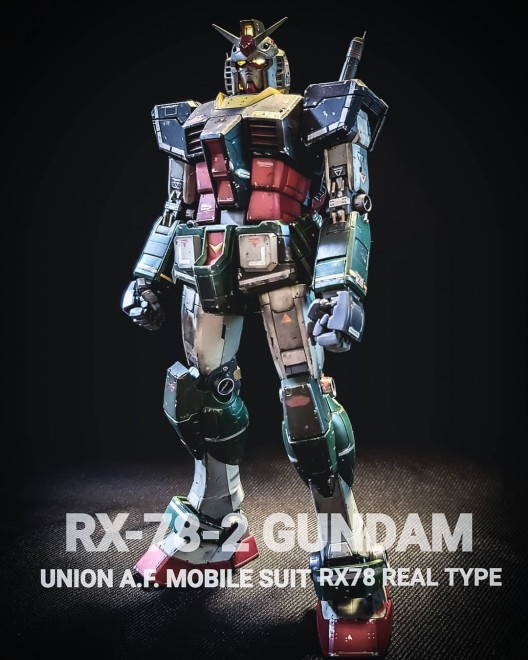 作品:RX-78-2 REAL TYPE/制作:人間のカス氏(good_for_nothing777※Instagram)