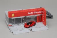 『フェラーリ ショールム』(税抜2500円)※「モーターショー展示ブース」パターンに組み替え可能、トミカは別売り