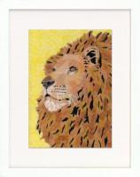 セロハン画 ライオン 2015