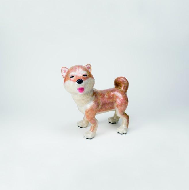 セロテープアート「柴犬」