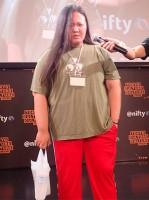 練習を抜け出してきた女子プロレスラー 写真提供:デイリーポータルZ