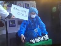 赤ちゃんパンダを並べる仕事 4 「大切なので」と抱きかかえて一件落着。