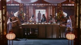 竜宮城に設置された回転寿司にやってきた3人