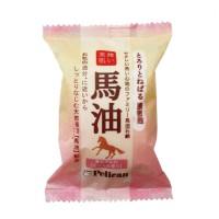 とろりとねばる濃密泡『ファミリー馬油石鹸』¥190 (税抜)