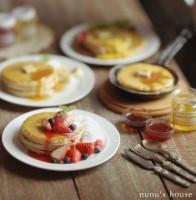 【朝食のパンケーキ】制作:Nunu's House(田中智)