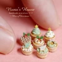 【クリスマスカップケーキ】制作:Nunu's House(田中智)