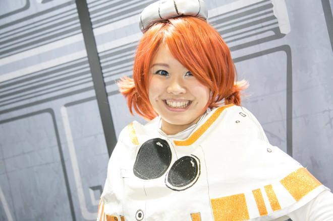 『東京コミコン2018』コスプレイヤー・エスメさん<br>(『スター・ウォーズ』BB8)