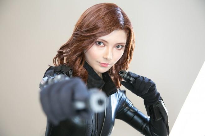 『東京コミコン2018』コスプレイヤー・ダリアさん<br>(『アベンジャーズ』ブラック・ウィドウ)