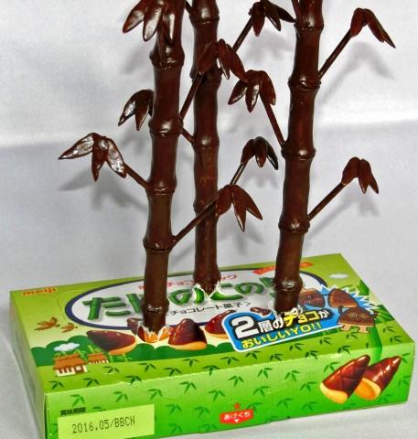 圧巻クオリティのパロディお菓子「たけのこの里が竹になった」