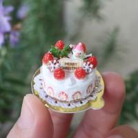 【いちごたっぷりクリスマスケーキ 8分の1サイズ】制作:みすみ工房(みすみともこ)