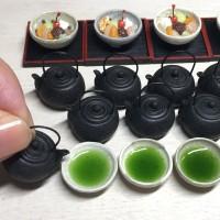 【クリームあんみつとお茶】制作&写真/こるは