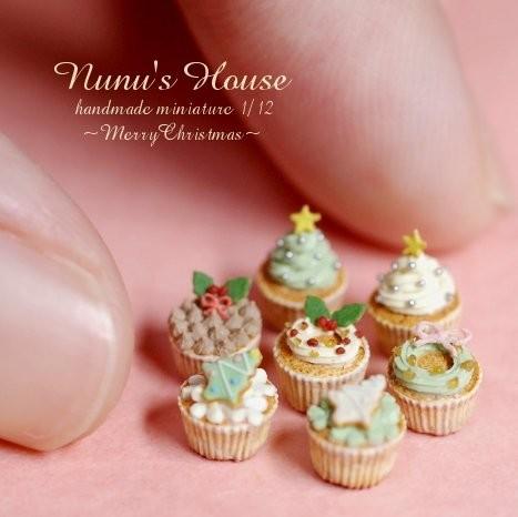 【クリスマスカップケーキ】制作・写真/Nunu's House(田中智)