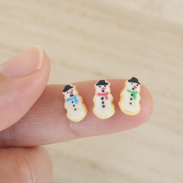 【雪だるまのアイシングクッキー】制作:みすみ工房(みすみともこ)