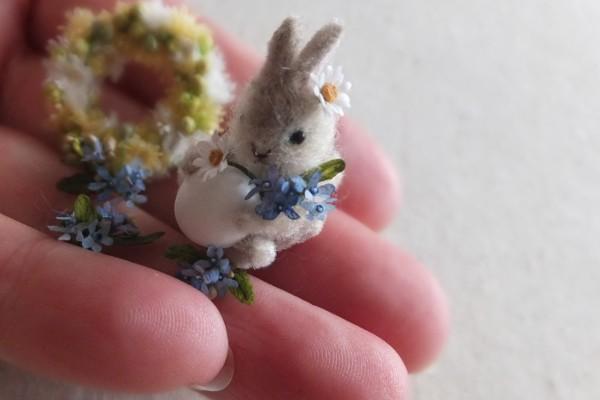 【エッグアートのウサギ】制作:Shibazukeparipari